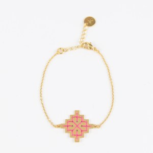 The Camelia bijoux - Bracelet Badi rose.