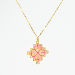 The Camelia bijoux - Collier Badi rose 1