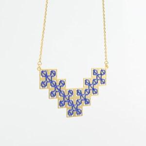 The Camelia bijoux - Collier Bou Inania bleu majorelle 1