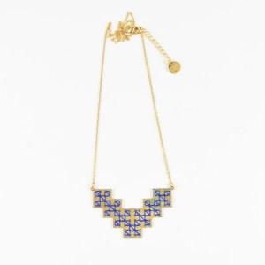 The Camelia bijoux - Collier Bou Inania bleu majorelle 2
