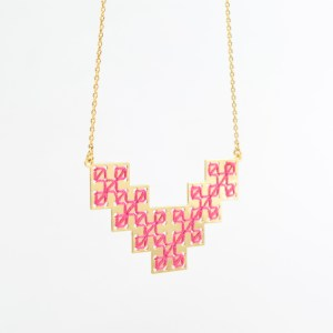The Camelia bijoux - Collier Bou Inania rose 1