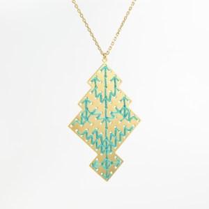 The Camelia bijoux - Collier Chellah vert 1