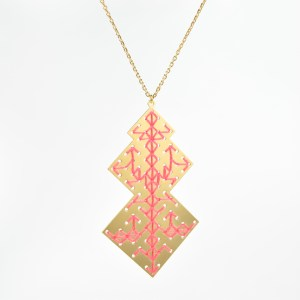 The Camelia bijoux - Collier Oudayas corail 1