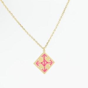 The Camelia bijoux - Collier Socco rose 1.
