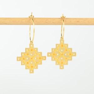 The Camelia bijoux - Créoles Badi jaune 2