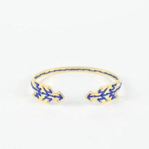 The Camelia bijoux - Jonc Bahia bleu majorelle 1