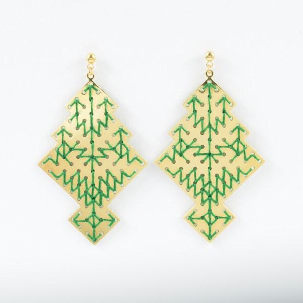 Boucles d'oreilles Chellah vert sapin