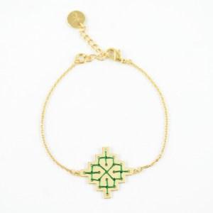 Bracelet Badi vert sapin