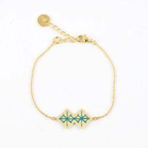 Bracelet Chouara bleu canard
