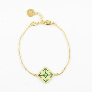 Bracelet Socco vert sapin