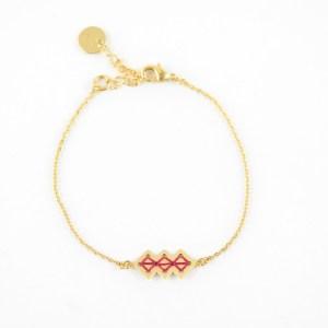 Bracelet Mellah bordeaux