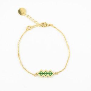 Bracelet Chellah vert sapin
