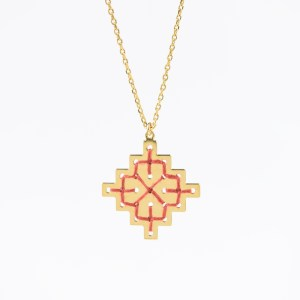 Collier Badi terracotta