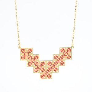 Collier Bou Inania terracotta