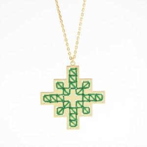 Collier Mendoubia vert sapin