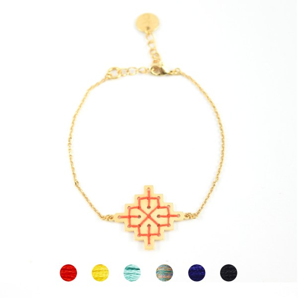 Bracelet Badi orangé 6 couleurs