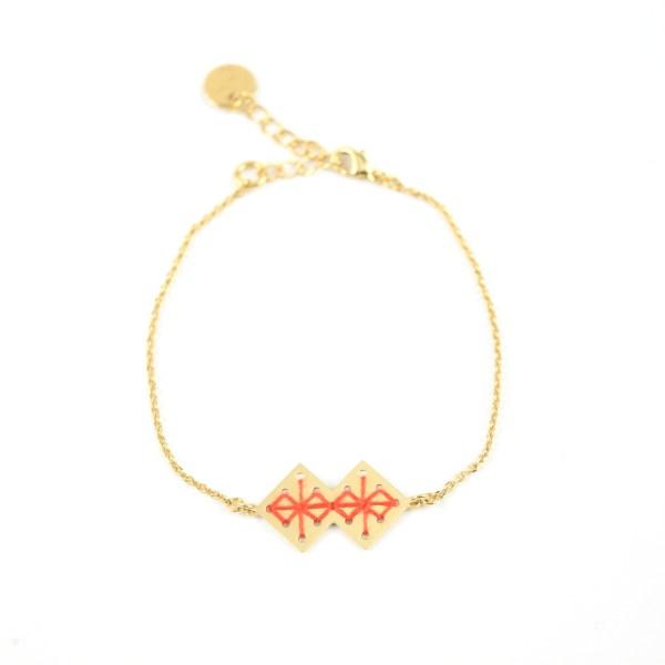Bracelet Chouara orangé