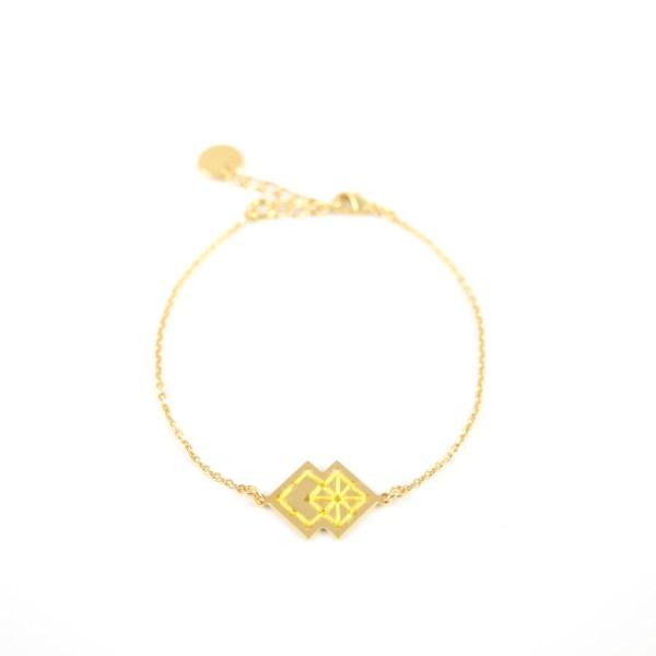 Bracelet Drâa jaune