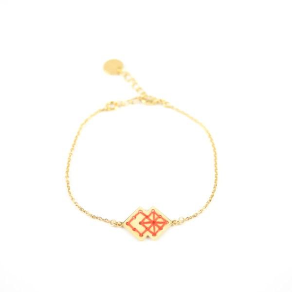 Bracelet Drâa orangé