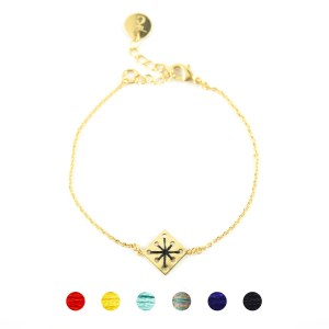 Bracelet Ménara noir 6 couleurs