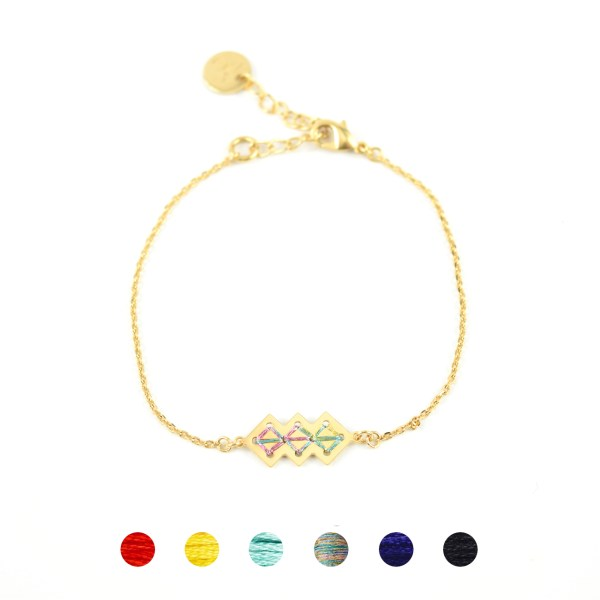 Bracelet Mellah multicolore brillant 6 couleurs