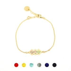 Bracelet Mellah multicolore brillant 6 couleurs