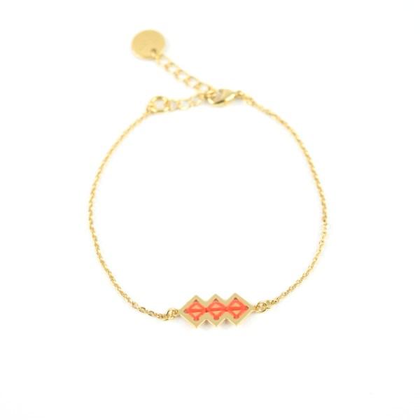 Bracelet Mellah orangé