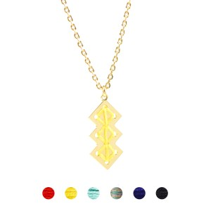 Collier Mellah jaune 6 couleurs