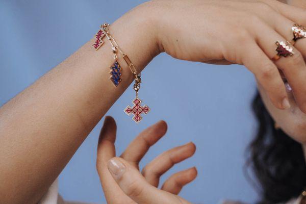 Bracelet personnalisable pendentifs clipsables