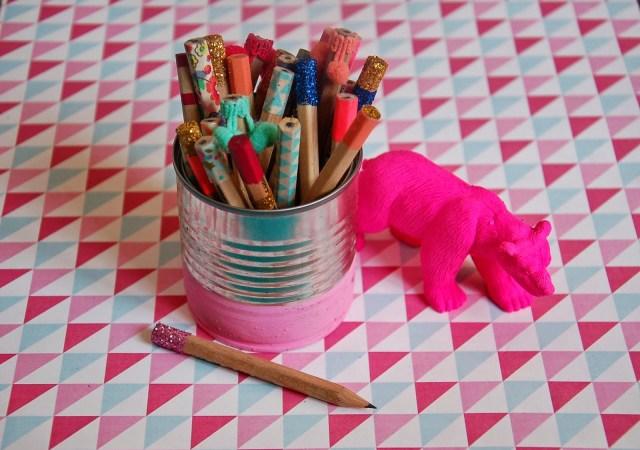 DIY customisation crayons Ikea