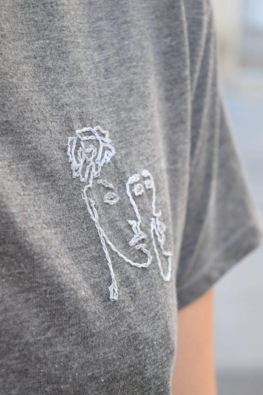 Broderie tee-shirt