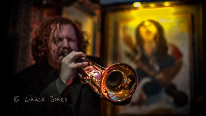 Evan Hauser, Trumpet - The CraigsList All Star Swing Band. Fuji X-E1 & 35mm F/1.4 ASPH.