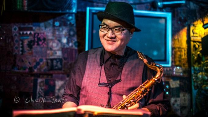 James Liu, Saxophone & Clarinet for The CraigsList All Star Swing Band.  Fuji X-E1 & 35mm F/1.4 ASPH.