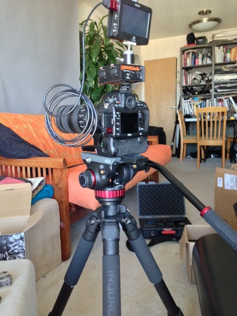 My Friend John Krauss Rigs His JuicedLink RM222 Riggy Micro Above His Camera