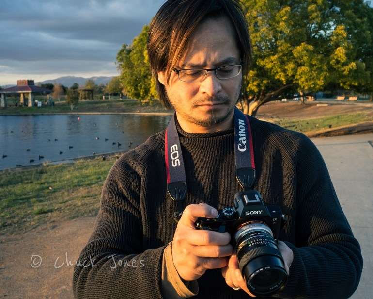 Pham Minh Son Sets Up A Landscape Photograph With His A7R & Contax Zeiss 25mm f/2.8