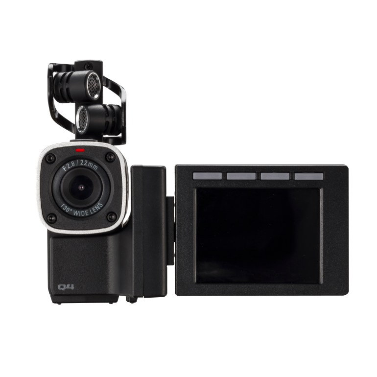 The New Zoom Q4 - Front View & Rotating Monitor