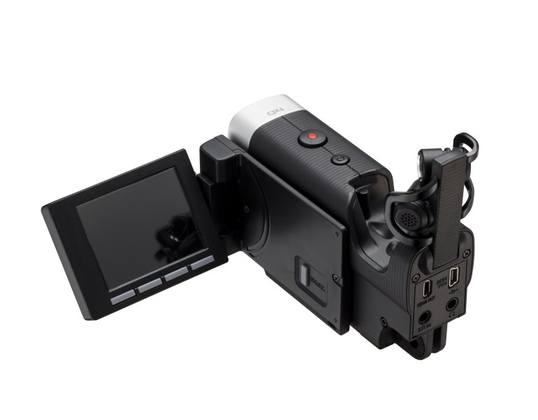 The Monitor On The Zoom Q4 Articulates & Moves, Unlike The Sony.