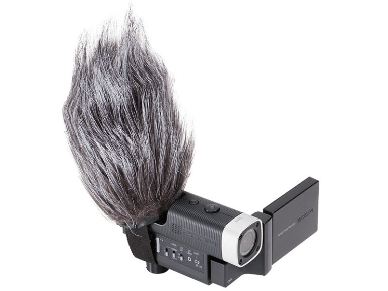 The Zoom Q4 Comes Complete With DeadCat Wind Cutter.