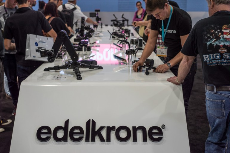 Edelkrone Was At NAB With The Assortment of Their Products Along With Several New Prototypes.
