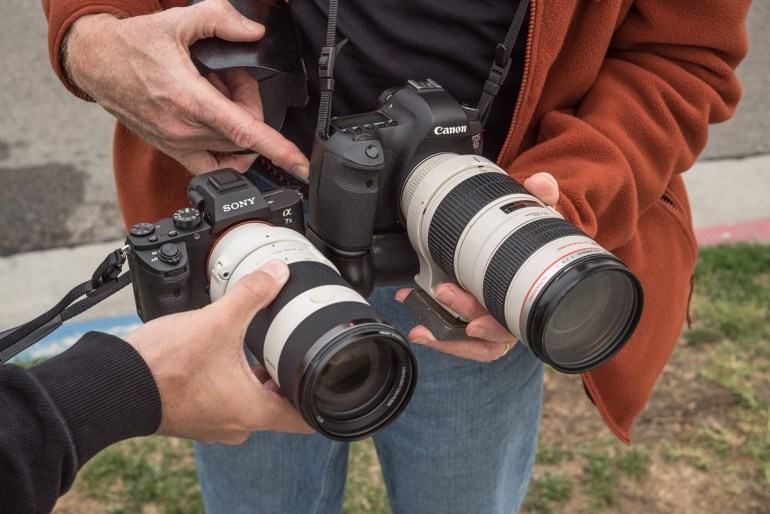 Jim Quinn Joined With His Canon 6D and 70-200 f/2.8 For A Size Comparison.  The Difference Is Substantial.
