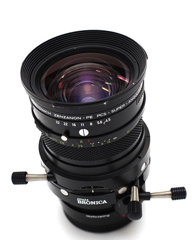 Zenza Bronica Schneider Built Zenzanon-PE PCS Super Angulon f4.5/55mm. The lens I fondly call The Bronicasaurus.