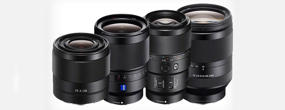 Four New Sony E Mount Lenses