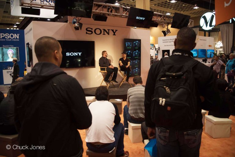 Brian Smith Draws A Crowd On Stage In The Sony Booth At WPPI 2015.