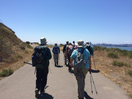 Many brought hiking poles