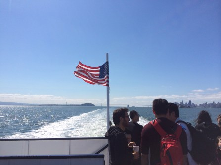 Cruising the bay on a beautiful day