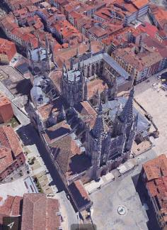 """David said, """"Burgos Cathedral from the helicopter."""" PS: Just kidding about the helicopter:). Google Earth."""