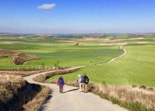 Walking down to Boadilla and Fromista.