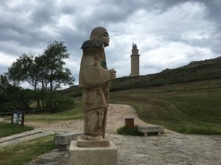 An open air museum surrounds the Tower of Hercules