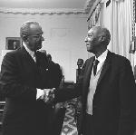 President Johnson Handshake