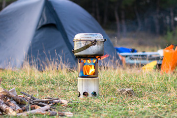 Is it ok to use a wood stove backpacking, making a wood stove, all you need.